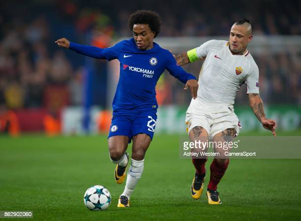 during the UEFA Champions League group C match between Chelsea FC and AS Roma at Stamford Bridge on October 18 2017 in London United Kingdom
