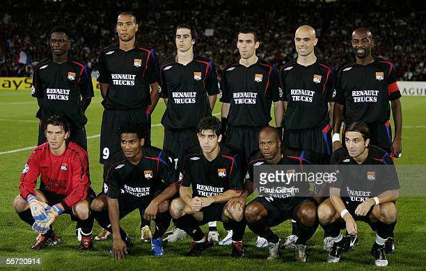 during the UEFA Champions League Group F match between Lyon and Real Madrid at Stade de Gerland on September 13 2005 in Lyon France