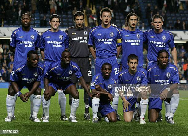 during the UEFA Champions League Group G match between Chelsea and Real Betis at Stamford Bridge on October 19 2005 in London England