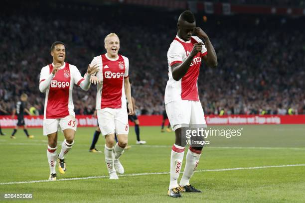 during the UEFA Champions League third round qualifying first leg match between Ajax Amsterdam and OGC Nice at the Amsterdam Arena on August 02 2017...