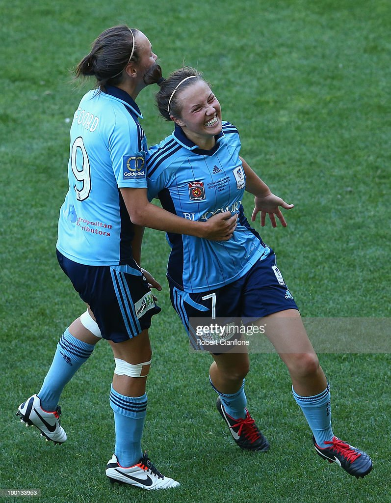during the W-League Grand Final between the Melbourne Victory and Sydney FC at AAMI Park on January 27, 2013 in Melbourne, Australia.