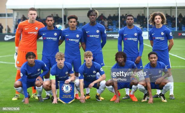 during UEFA YouthLeague match between Chelsea Under 19s against AS Roma Under 19s at Cobham Training Ground Cobham on 18 Oct 2017