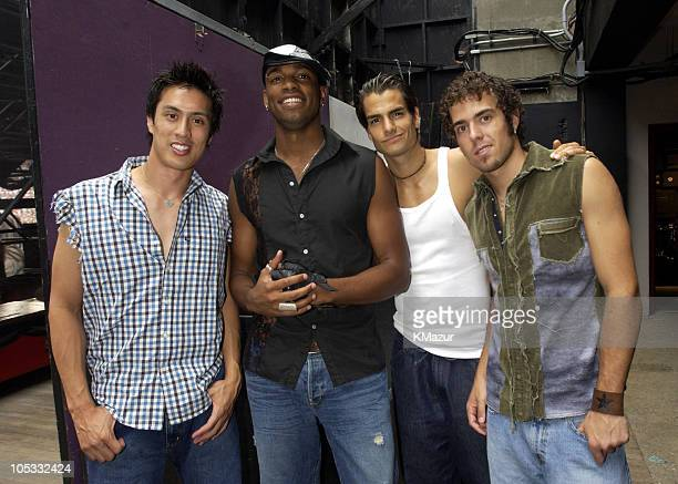 LMNT during WBLI Summer Jam 2002 Backstage at Jones Beach Theater in Wantagh New York United States
