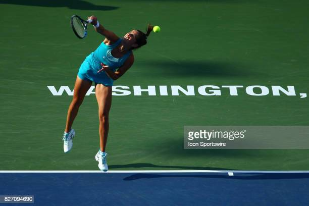 during women's finals match of the 2017 Citi Open on August 6 2017 at Rock Creek Park Tennis Center in Washington DC