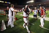 Durron Neal of the Oklahoma Sooners reacts after the Clemson Tigers defeat the Oklahoma Sooners with a score of 37 to 17 in the 2015 Capital One...