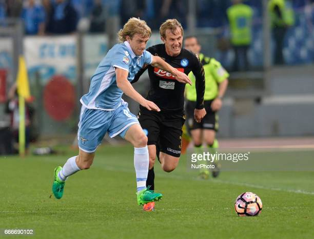 Dusan Basta Ivan Strinic during the Italian Serie A football match between SS Lazio and AC Napoli at the Olympic Stadium in Rome on april 09 2017