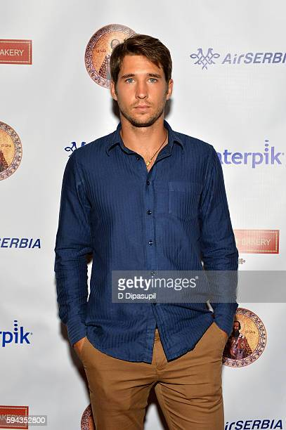 Dusan Lajovic attends the Save Saint Sava Benefit at the New York Athletic Club on August 22 2016 in New York City