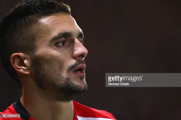Dusan Tadic of Southampton during the UEFA Europa League match between Southampton FC and FC Internazionale Milano at St Mary's Stadium on November 3...