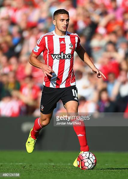 Dusan Tadic of Southampton in action during the Barclays Premier League match between Southampton and Swansea City at St Mary's Stadium on September...