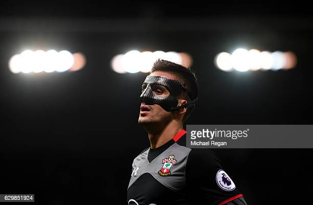 Dusan Tadic of Southampton looks on during the Premier League match between Stoke City and Southampton at Bet365 Stadium on December 14 2016 in Stoke...