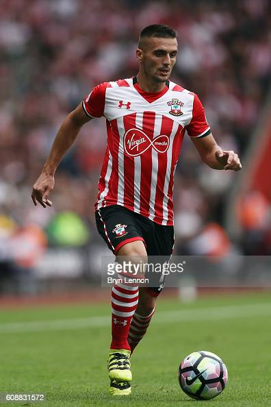 Dusan Tadic of Southampton responds the crowd during the Premier League match between Southampton and Swansea City at St Mary's Stadium on September...