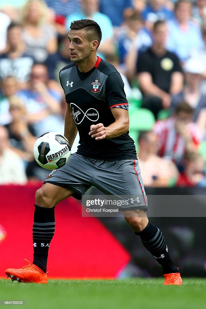 Dusan Tadicof Southampton runs with the ball during the friendly match between FC Groningen an FC Southampton at Euroborg Stadium on July 30 2016 in...