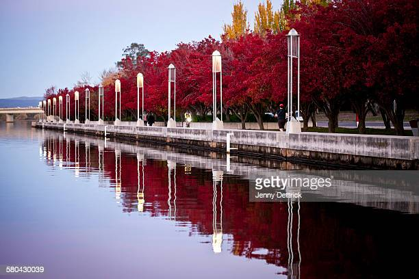 Dusk at lake Burley Griffin, Canberra