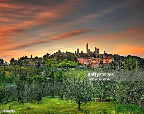 Dusk at San Gimignano