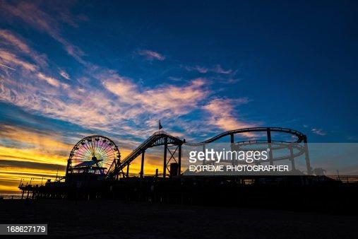 Anoitecer no Pier de Santa Mônica