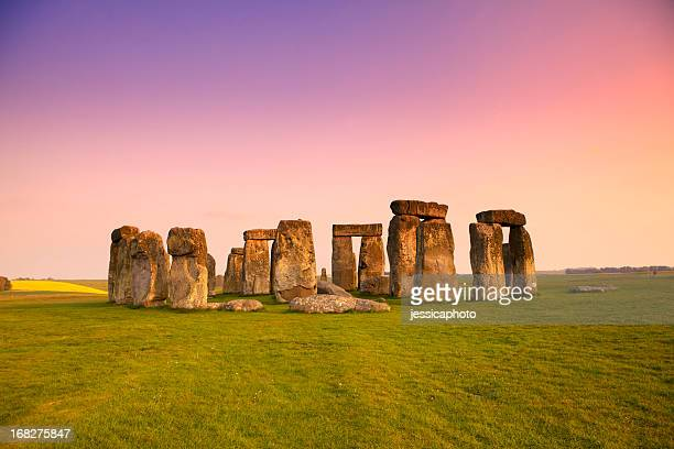 Dusk at Stonehenge in the Spring