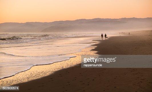 dusk at the beach
