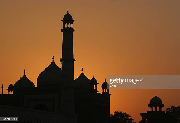 Abenddämmerung im Taj Mahal, Agra, Indien