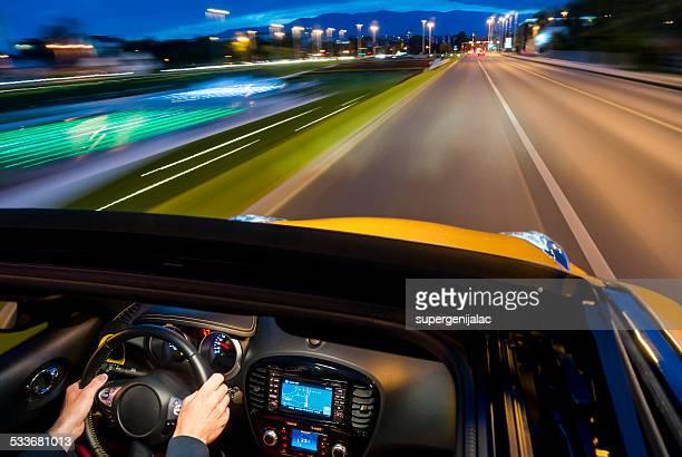 Dusk city drive