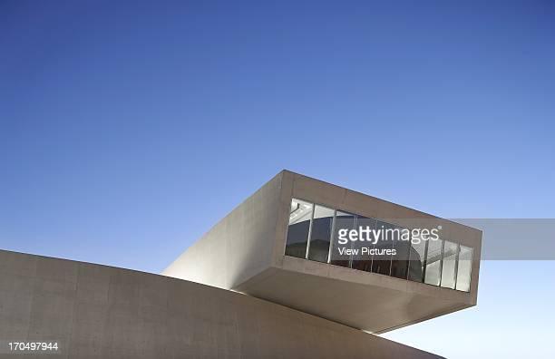 Dusk exterior detail MAXXI National Museum of the 21st Century Arts Art Gallery Europe Italy Zaha Hadid Architects