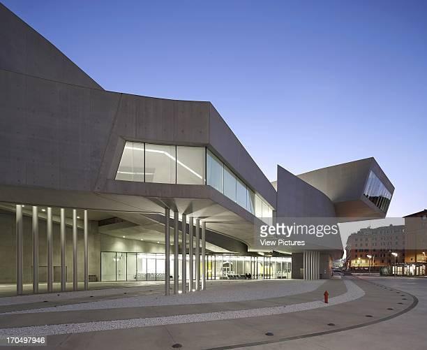 Dusk exterior MAXXI National Museum of the 21st Century Arts Art Gallery Europe Italy Zaha Hadid Architects