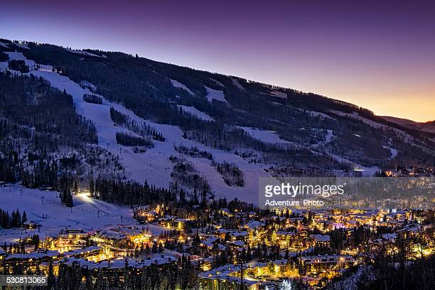 Dusk in Vail Colorado