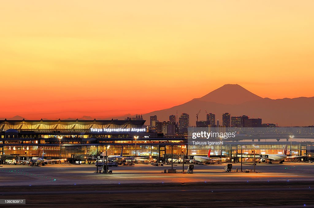 Dusk of Haneda Airport