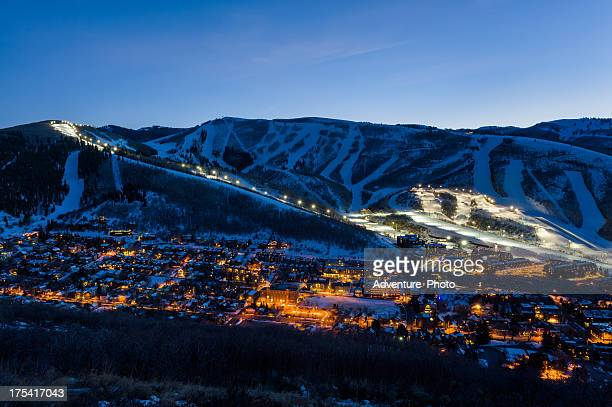 Dusk View of Park City Glowing