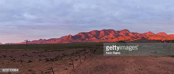 Dusk view of the Flinders Ranges