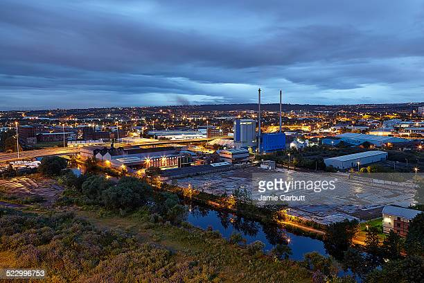 Dusk views of Leeds