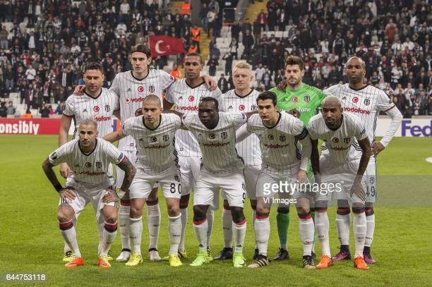 Dusko Tosic of Besiktas JK Atinc Nukan of Besiktas JK Marcelo Antonio Guedes Filho of Besiktas JK Andreas Beck of Besiktas JK goalkeeper Fabricio...