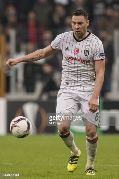 Dusko Tosic of Besiktas JKduring the UEFA Europa League round of 16 match between Besiktas JK and Hapoel Beer Sheva on February 23 2017 at the...