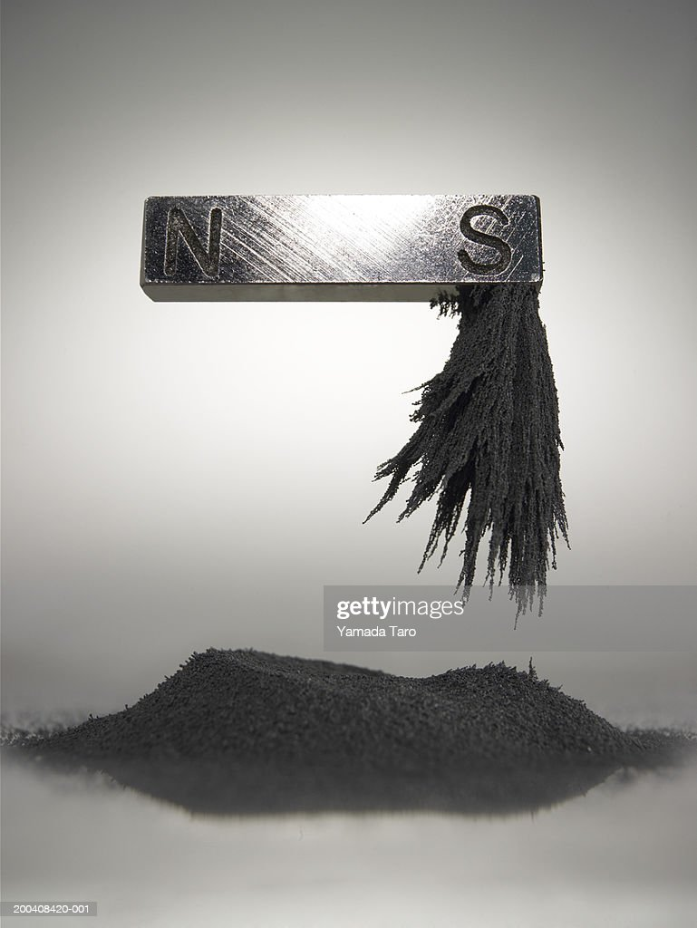 Dust attracted to magnet