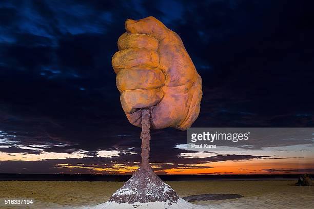 'Dust' by artist Norton Flavel is seen during Sculpture By The Sea 2016 at Cottesloe Beach on March 18 2016 in Perth Australia