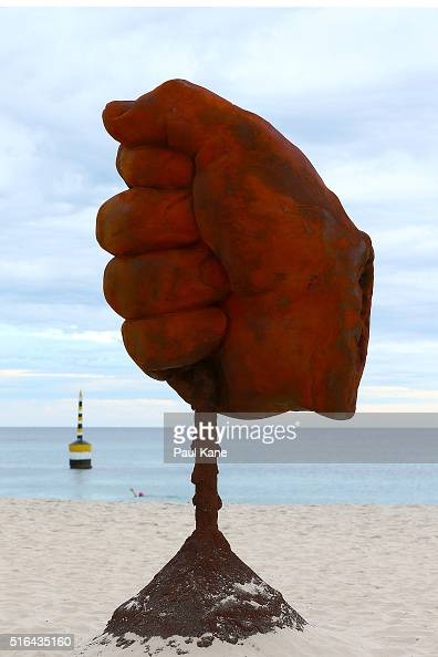 'Dust' by artist Norton Flavel is seen during Sculpture By The Sea 2016 at Cottesloe Beach on March 19 2016 in Perth Australia
