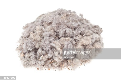 Dust heap isolated on white