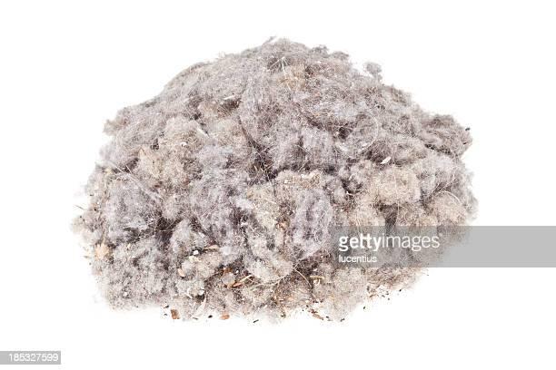 Poussière minier isolé sur blanc