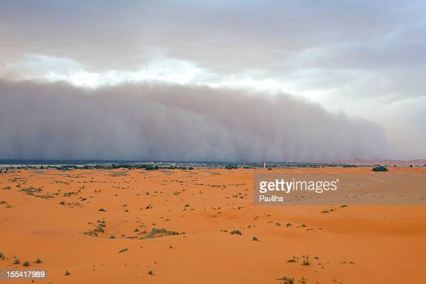 Dust Storm Approaching Merzouga Settlement