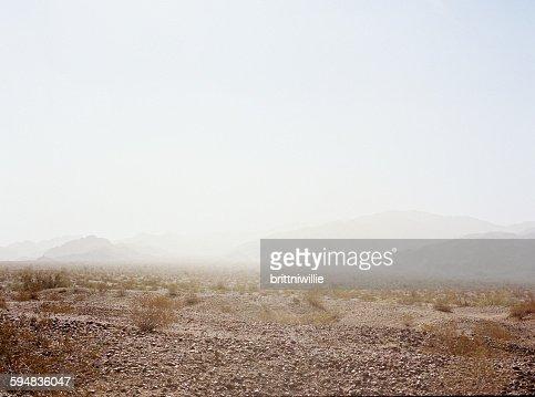 Dust storm in the desert, California, USA