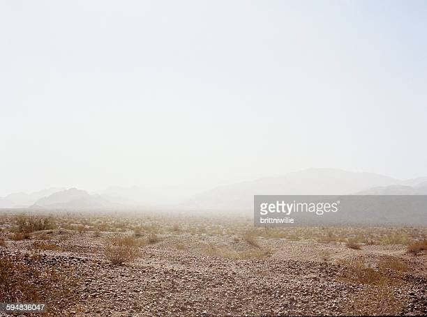 Dust storm in the desert, California, USA