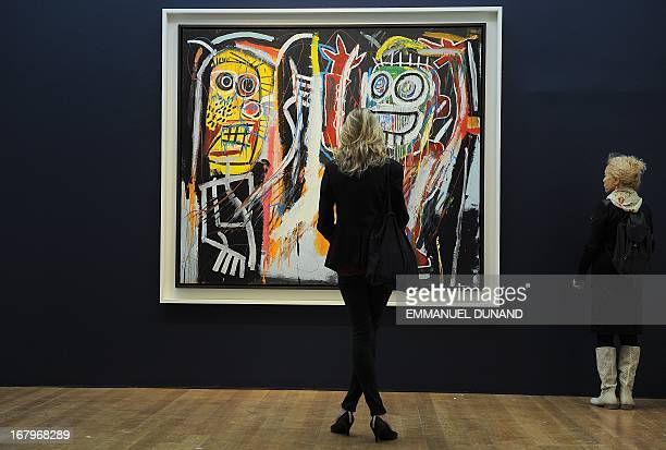 'Dustheads' by JeanMichel Basquiat is on display during a preview of Christie's Impressionist and Modern Art sales in New York on May 3 2013...