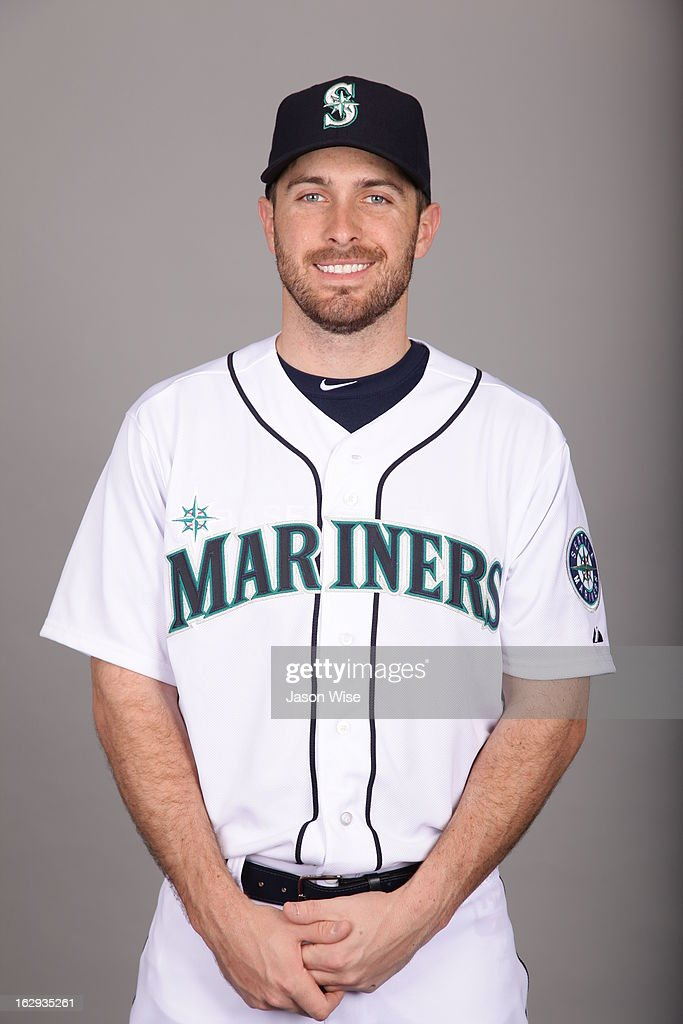 <a gi-track='captionPersonalityLinkClicked' href=/galleries/search?phrase=Dustin+Ackley&family=editorial&specificpeople=4352278 ng-click='$event.stopPropagation()'>Dustin Ackley</a> #13 of the Seattle Mariners poses during Photo Day on February 19, 2013 at Peoria Sports Complex in Peoria, Arizona.