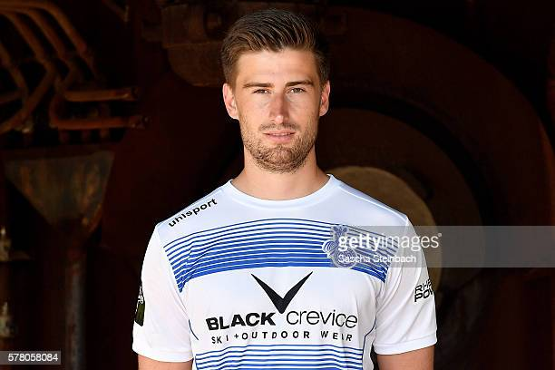 Dustin Bomheuer poses during the MSV Duisburg team presentation at Landschaftspark Nord on July 20 2016 in Duisburg Germany