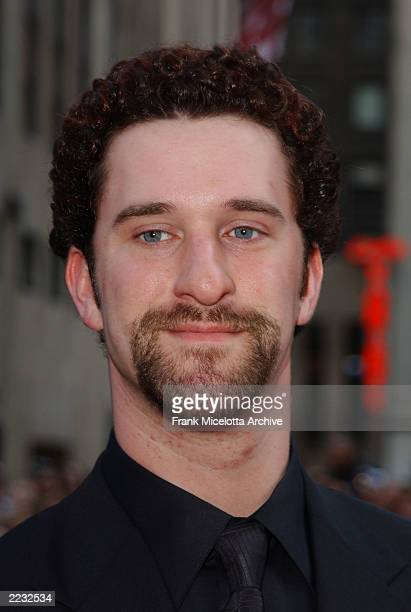 Dustin Diamond arrives for the NBC 75th Anniversary celebration taking place live in Studio 8H in Rockefeller Center in New York City May 5 2002...