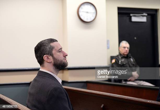 Dustin Diamond attends his arraignment at Ozaukee County Courthouse on January 22 2015 in Port Washington Wisconsin Diamond best known for his role...