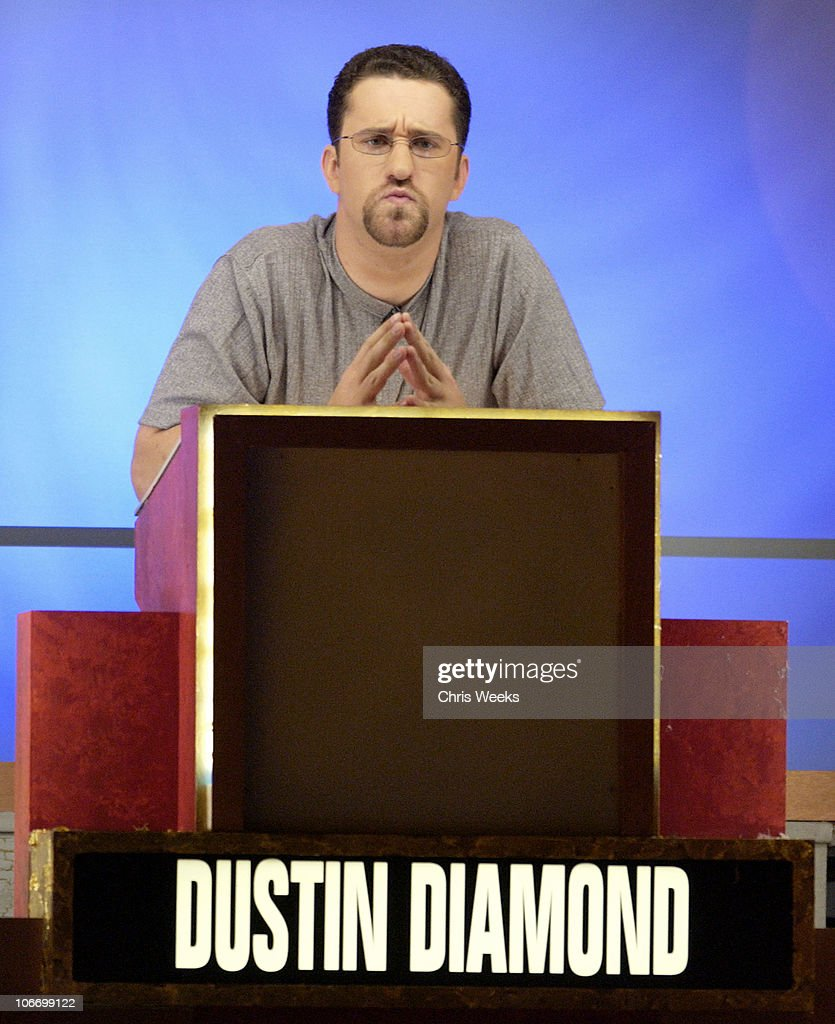 <a gi-track='captionPersonalityLinkClicked' href=/galleries/search?phrase=Dustin+Diamond&family=editorial&specificpeople=895493 ng-click='$event.stopPropagation()'>Dustin Diamond</a> during David Spade and Co-Stars from Paramount Pictures' 'Dickie Roberts: Former Child Star' Tape Hollywood Squares at CBS Television City in Los Angeles, California, United States.