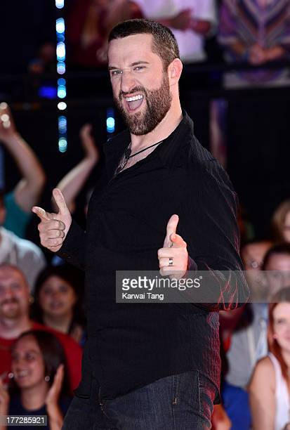 Dustin Diamond enters the Celebrity Big Brother House at Elstree Studios on August 22 2013 in Borehamwood England