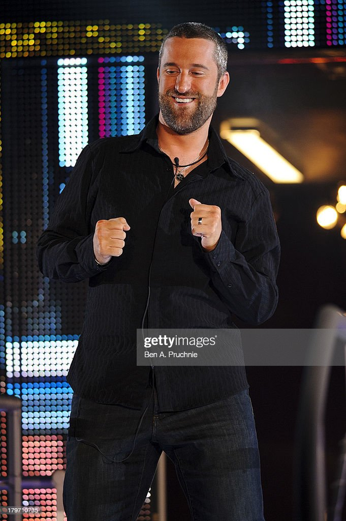 <a gi-track='captionPersonalityLinkClicked' href=/galleries/search?phrase=Dustin+Diamond&family=editorial&specificpeople=895493 ng-click='$event.stopPropagation()'>Dustin Diamond</a> is evicted from the Celebrity Big Brother house at Elstree Studios on September 6, 2013 in Borehamwood, England.