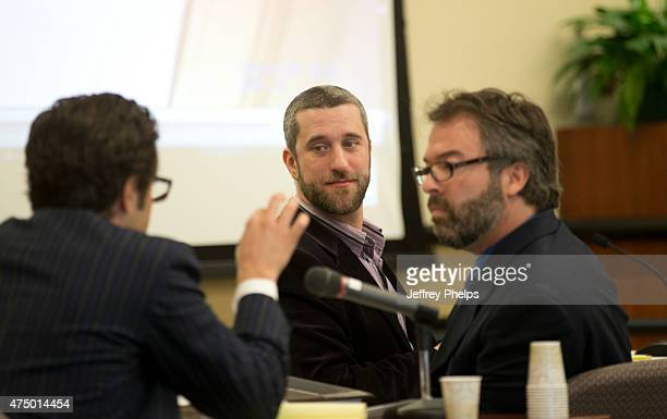 Dustin Diamond looks at his attorney during his trial in the Ozaukee County Courthouse May 28 2015 in Port Washington Wisconsin Diamond best known...