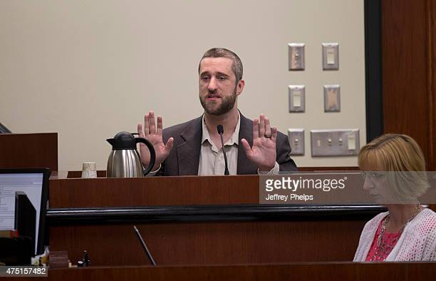 Dustin Diamond testifies in the courtroom during his trial in the Ozaukee County Courthouse May 29 2015 in Port Washington Wisconsin Diamond best...